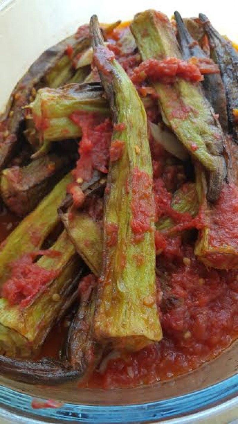 Domates Soslu Bamya Kızartması